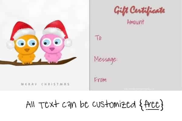 Free Editable Christmas Gift Certificate Template 23 Designs - christmas gift card templates free