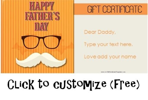 Free Printable Father\u0027s Day Gift Cards - Customize Online
