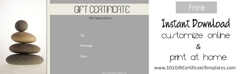 Spa Gift Certificates - gift certificate free templates