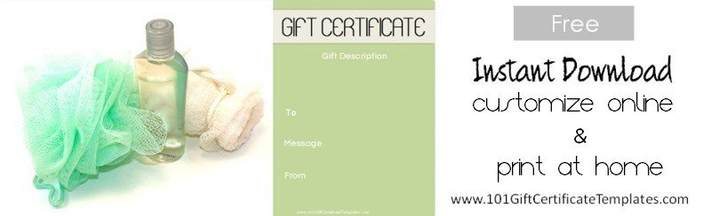 Spa Gift Certificates - print your own voucher