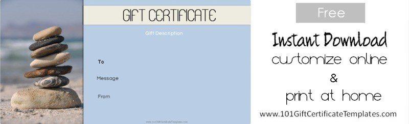 Spa Gift Certificates - gift voucher format sample