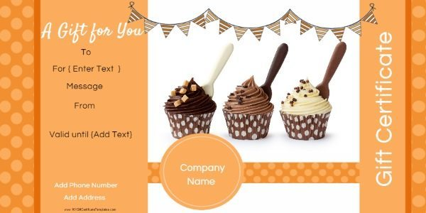 Photo Gift Certificate Templates