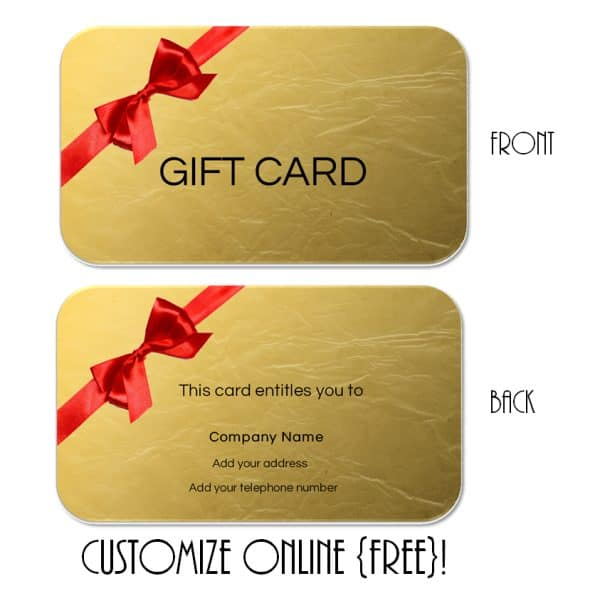 Gift Card Template - gift card templates