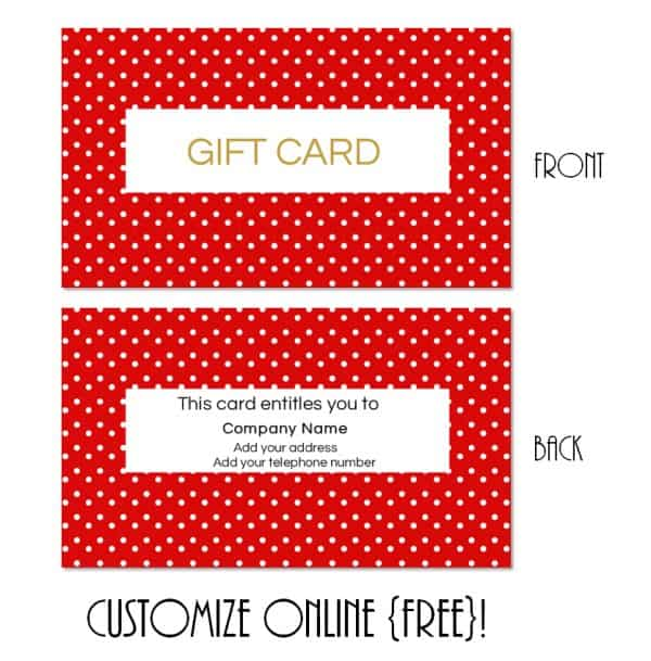 Gift Card Template - gift card template