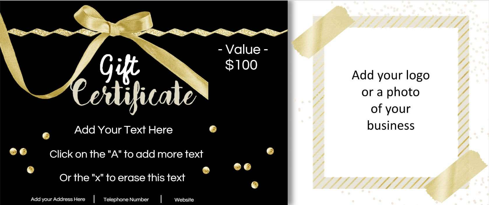 printable gift certificates templates
