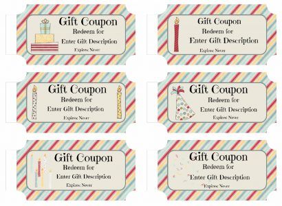 Free Custom Birthday Coupons - Customize Online  Print at Home