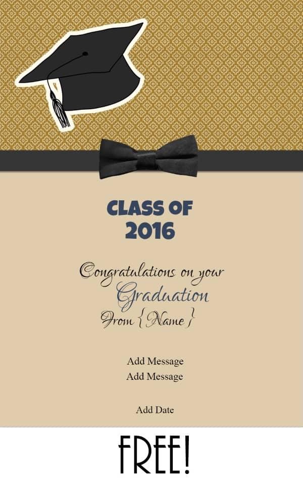 free printable graduation name cards