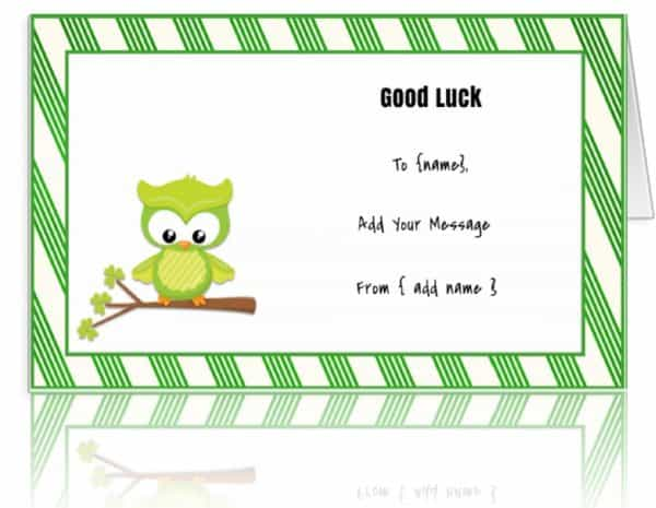 Good Luck Cards To Print - Fiveoutsiders - good luck cards to print