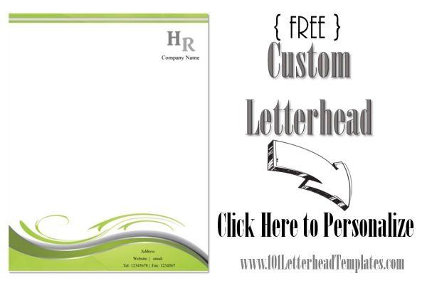 Free Printable Business Letterhead Templates Waiter Resume