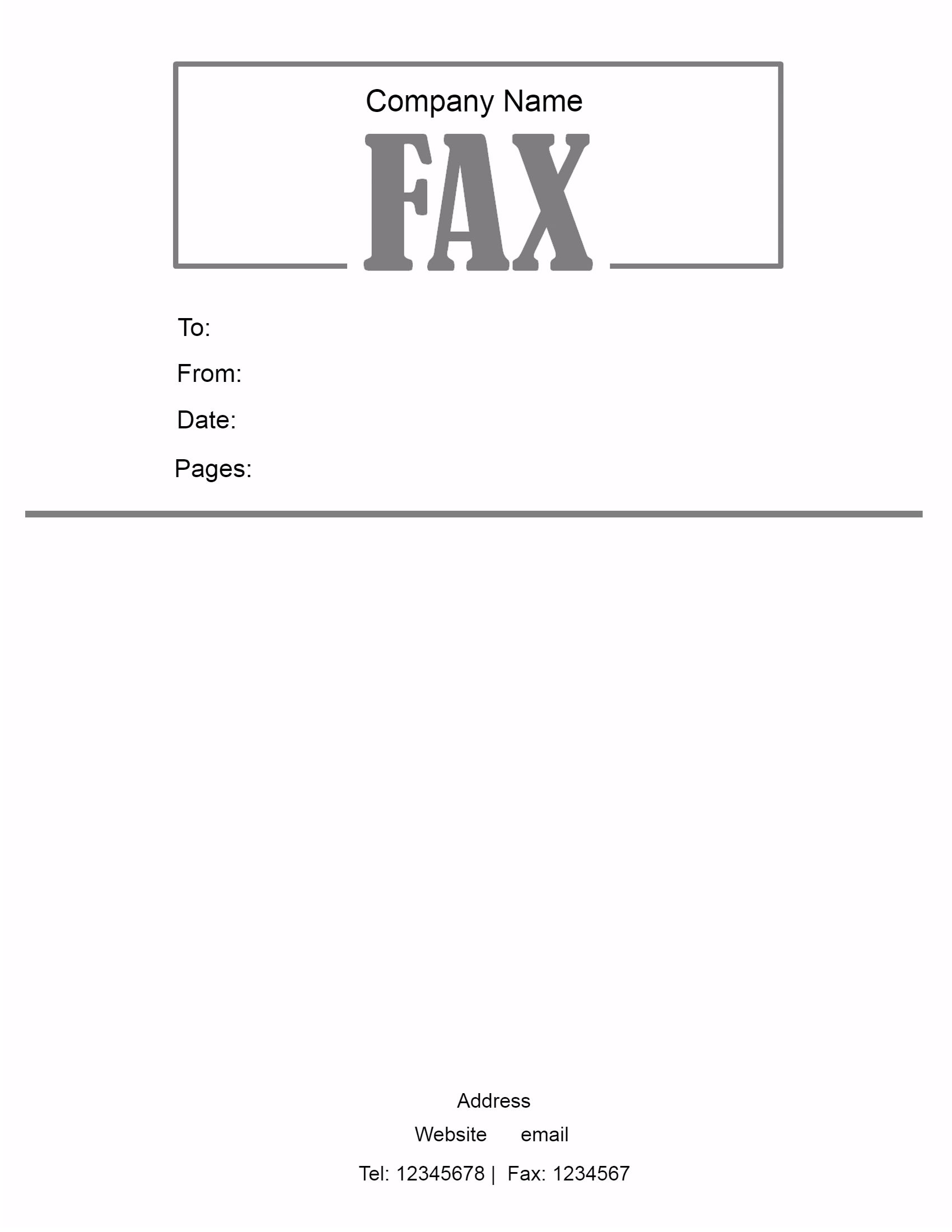 fax pages include cover sheet