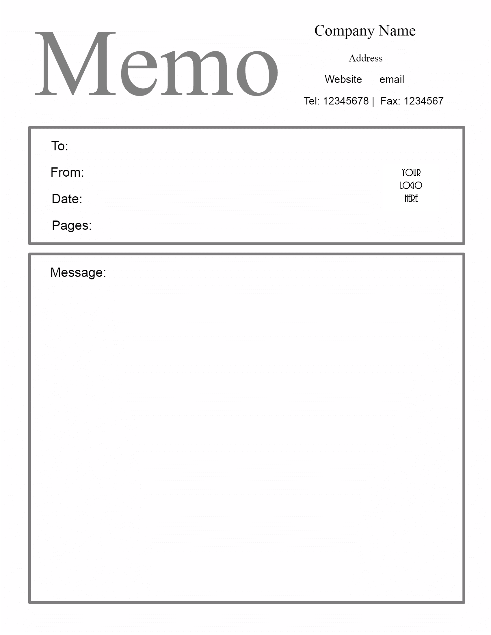 Free Letterhead Templates Free Microsoft Word Memo Template