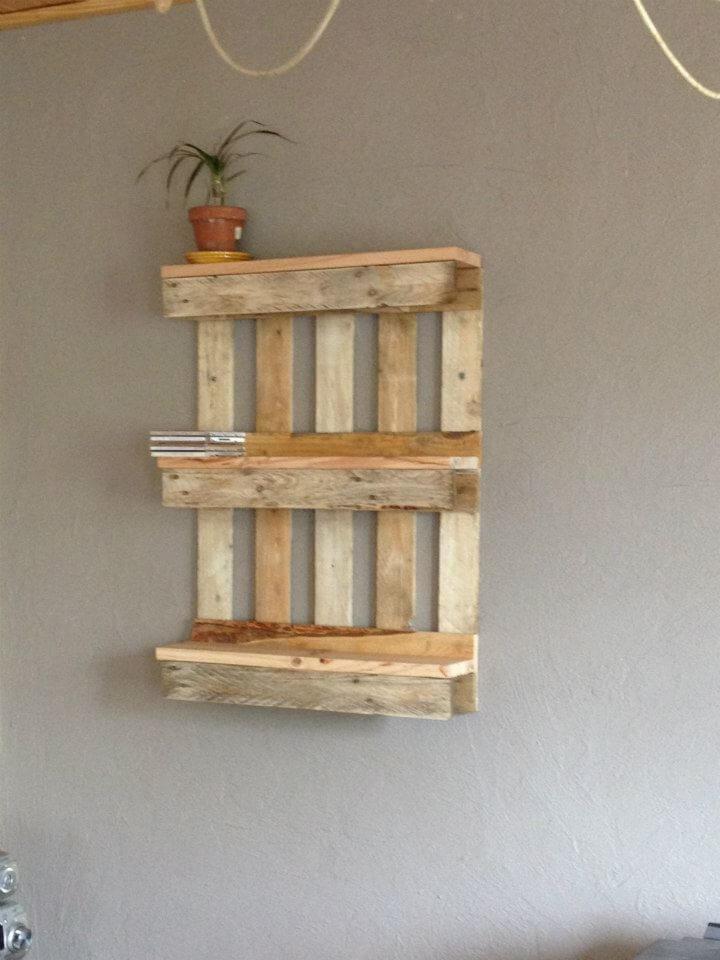 Bookshelf Out Of Pallets 101 Pallet Ideas