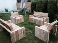 DIY Beefy Pallet Benches and Chairs