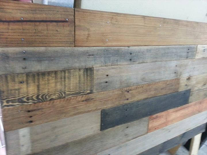 Rustic Wooden Headboard Pallet Rustic Headboard Accent