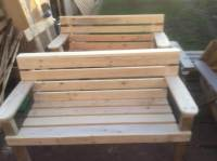 White Painted Pallet Garden Bench