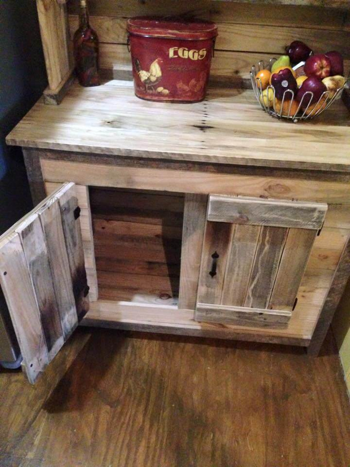 Kitchen Hutch Made From Pallets