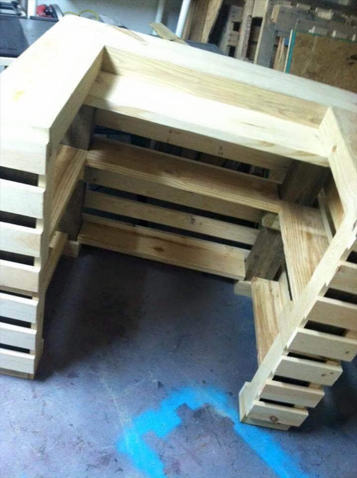 Mini Pallet Bar Table