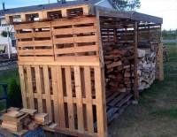 Pallet Firewood Shed
