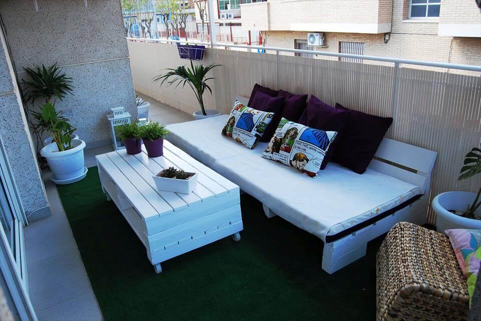 17 Ejemplos de trabajos en palets para terrazas \u2013 Manos a la Obra - Terrazas Con Palets