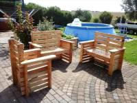 DIY Wooden Pallet Patio Furniture Set - 101 Pallet Ideas