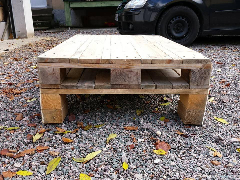 pallet coffee table on caster