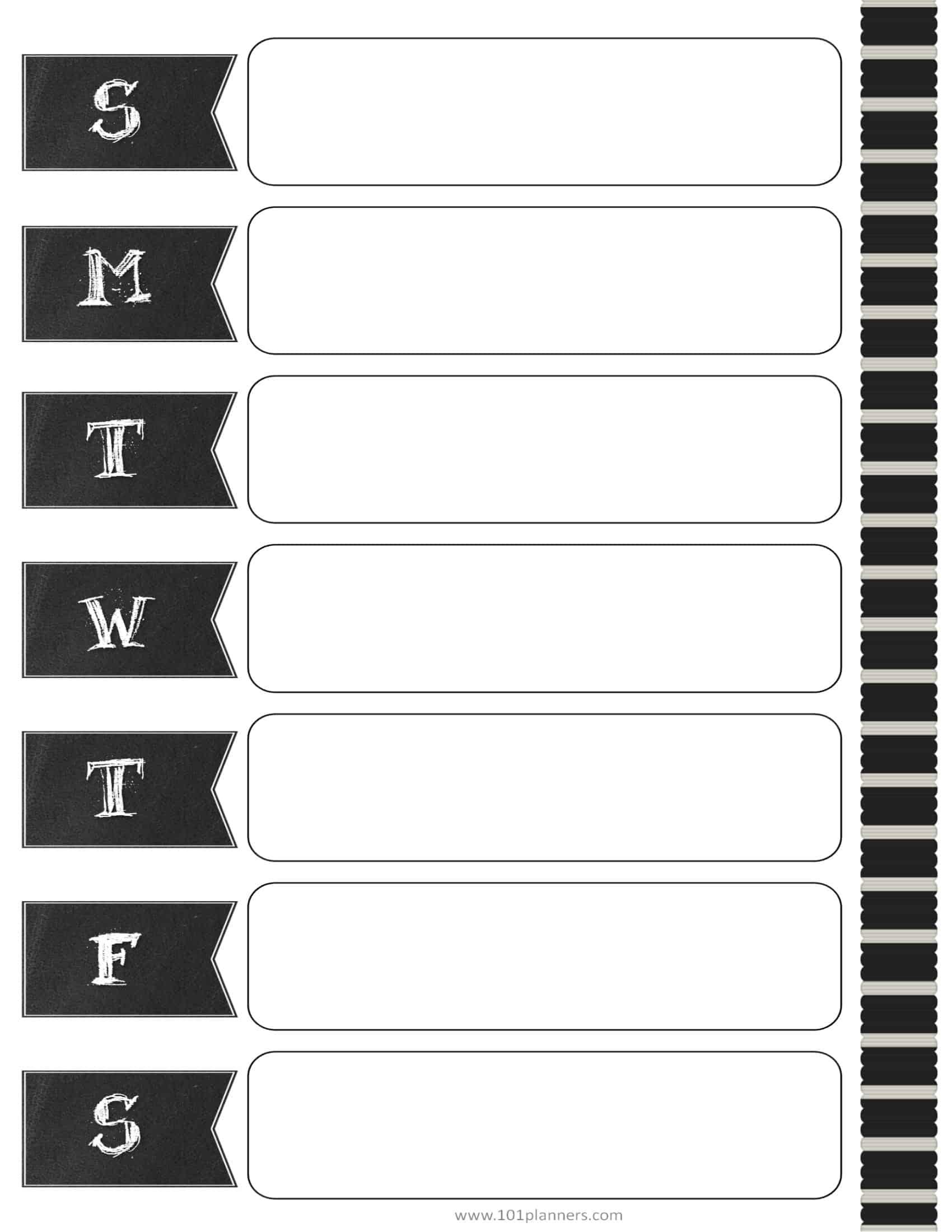 custom calendar template
