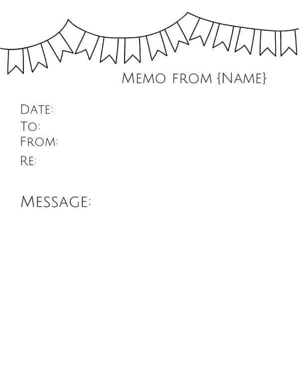 Free Memo Template Customize Online then Print