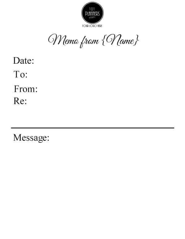 Free Memo Template Customize Online then Print - memo template
