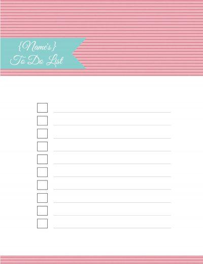 Printable To Do List