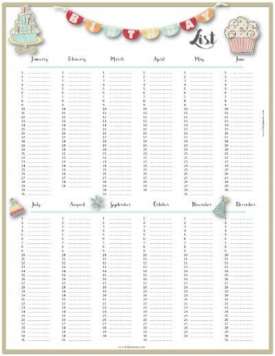 Printable Daily Calendar Landscape Template Free Calendars And Calendar Templates Printable Calendars Free Birthday List Template Customize Then Print