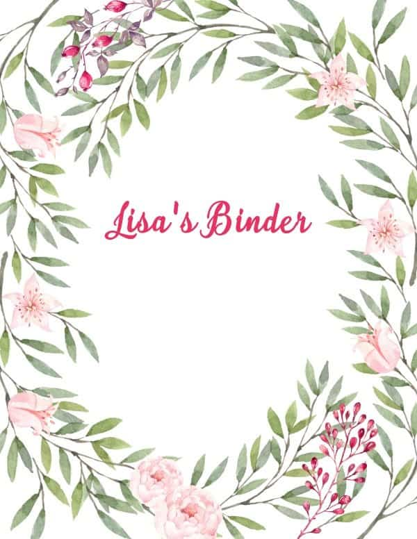Free Binder Cover Templates Customize Online  Print at Home Free!