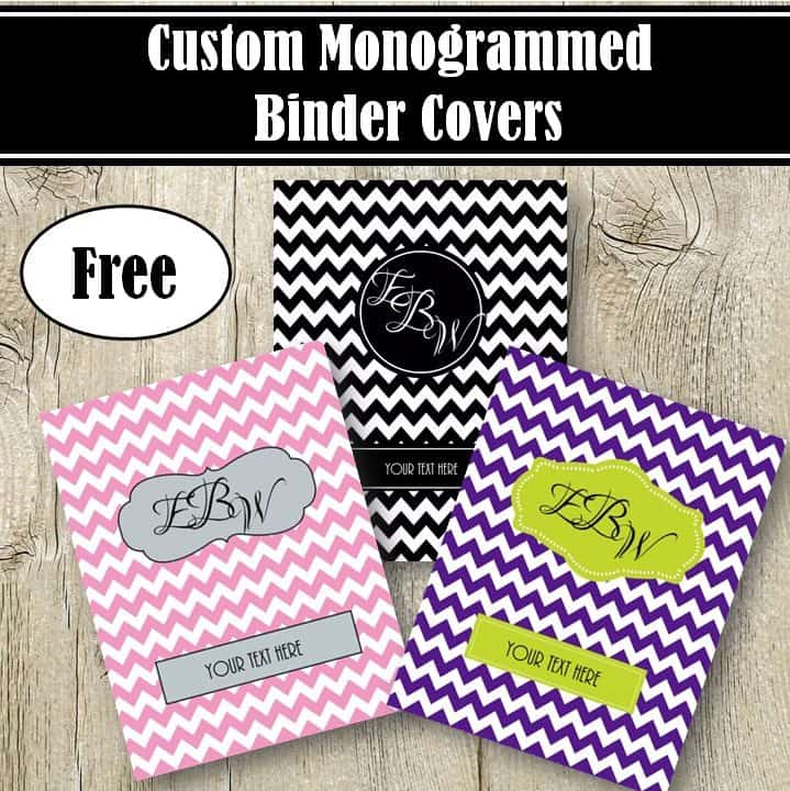 Free Monogram Binder Cover