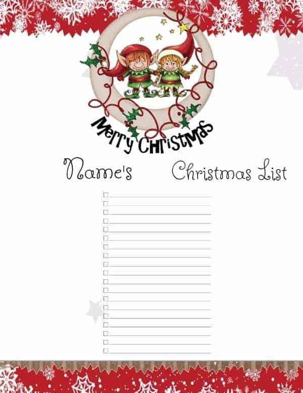 Christmas List Template Christmas Wish List Templates Mr Printables - free christmas list template