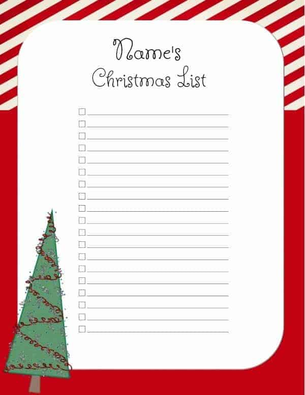template for christmas list - Boatjeremyeaton - christmas wish list templates