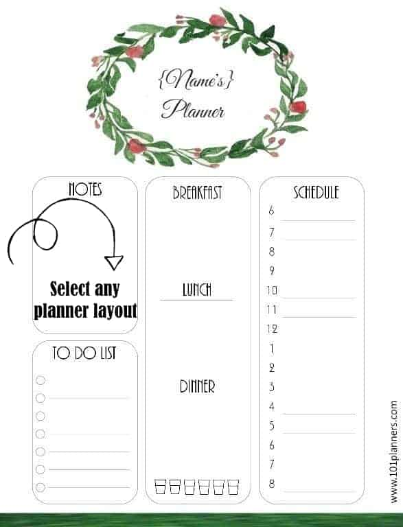 Free Daily Planner Template Customize then Print