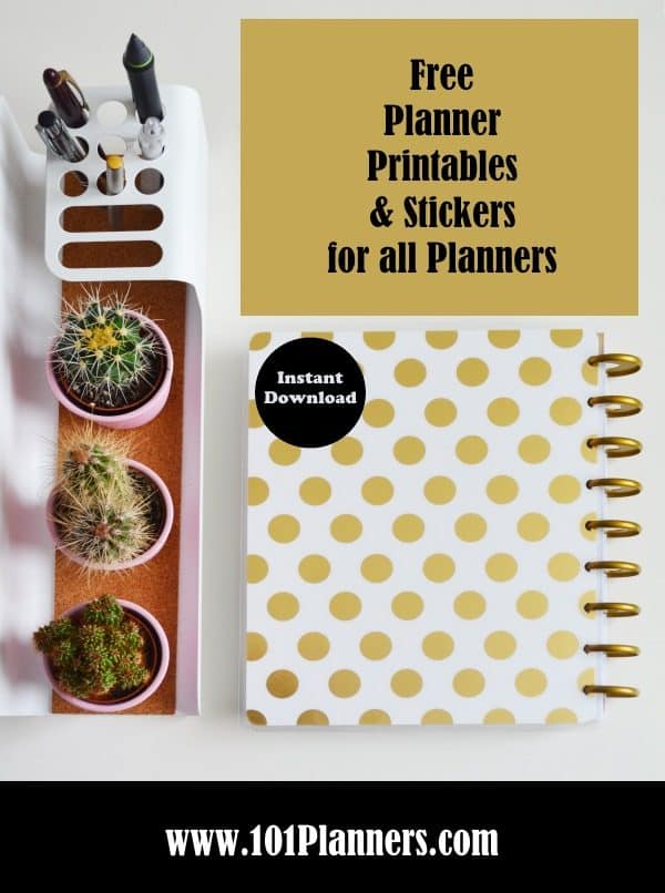 Planner Sizes Each Printable is Available in 8 Planner Sizes Free!