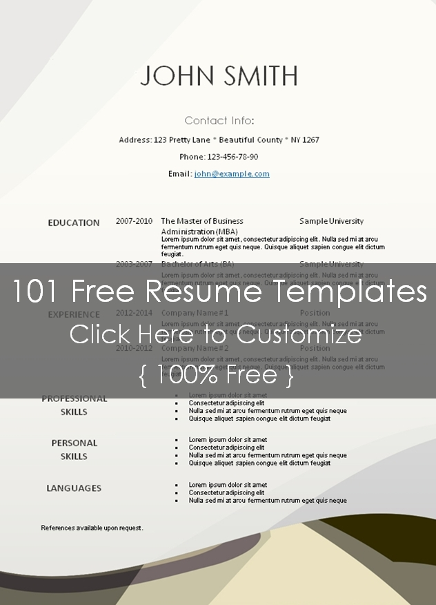 resume templates 101 - Basilosaur - resume templates 101