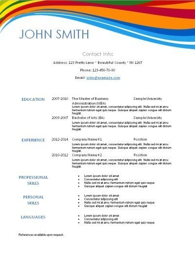 Traditional Resume Template Word - Resume Examples | Resume Template