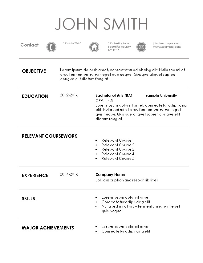 Internship Resume Template - How To Write A Resume For Internship