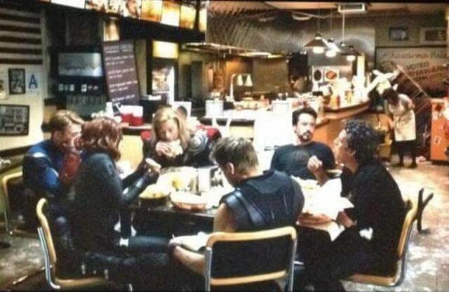 The Avengers gotta eat!
