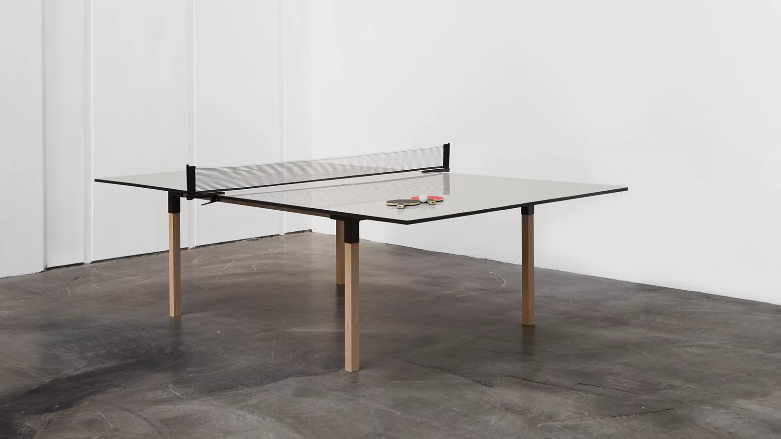 pull pong multi purpose table lets you play ping pong after dinner murphy kitchen table Pull Pong Table Transformable Dining Table