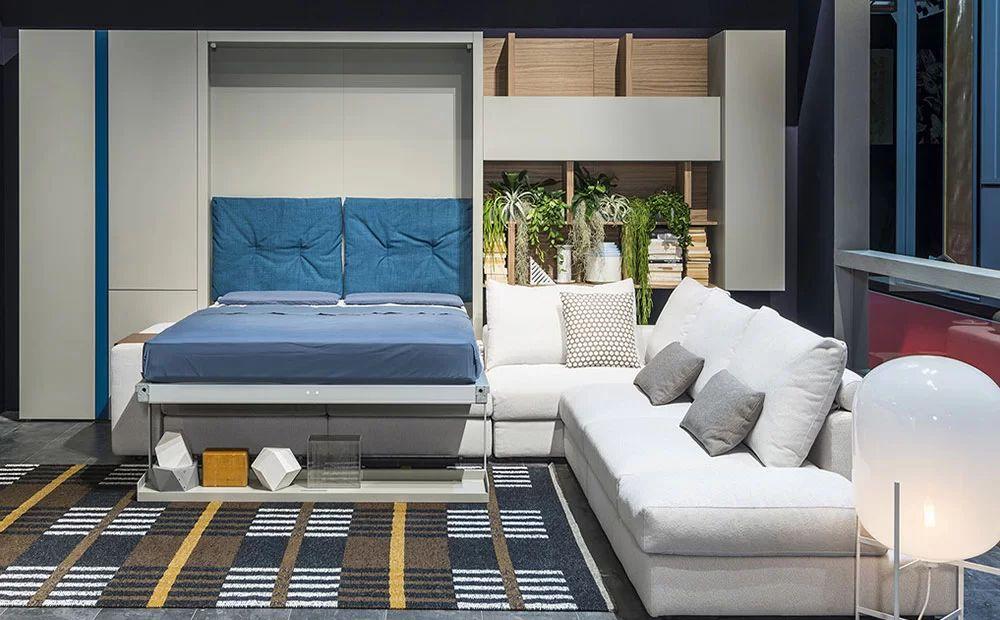 modern murphy beds with sofa