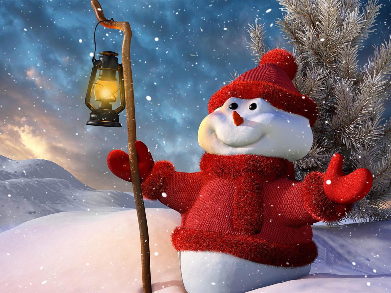 New Year 2014 Hd Wallpapers Aesthetic Cute Snowman Christmas Hd Computer Wallpaper