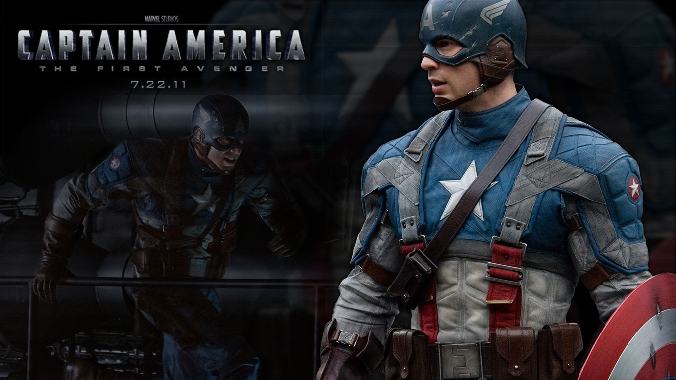 Vampire Diaries Hd Wallpapers 1366x768 Captain America The First Avenger Hd Movie Wallpaper 01