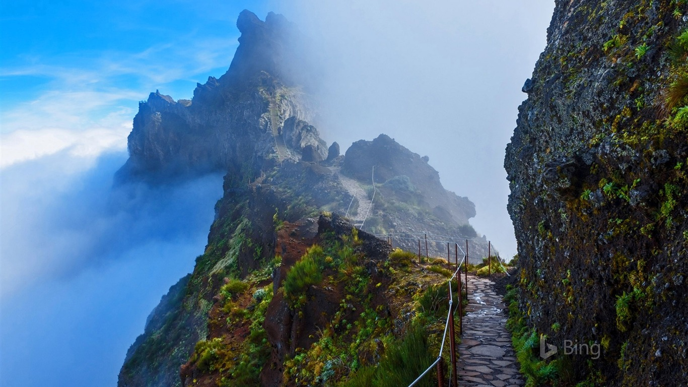Apple Iphone X Wallpaper From Commercial Portugal Mountain Trail In Madeira 2016 Bing Desktop