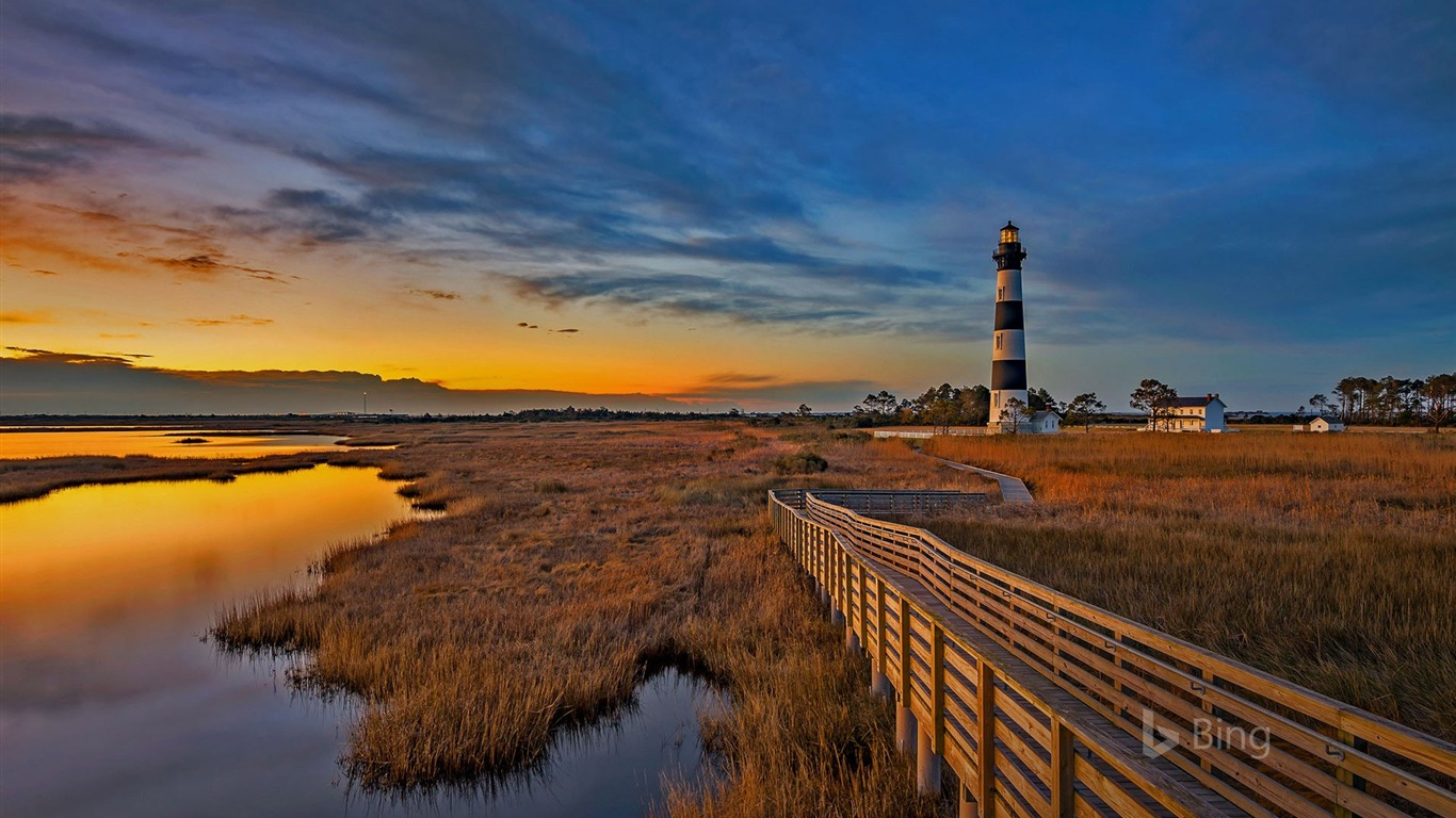 Iphone X Wallpaper Official North Carolina Bodie Island Lighthouse 2017 Bing Wallpaper