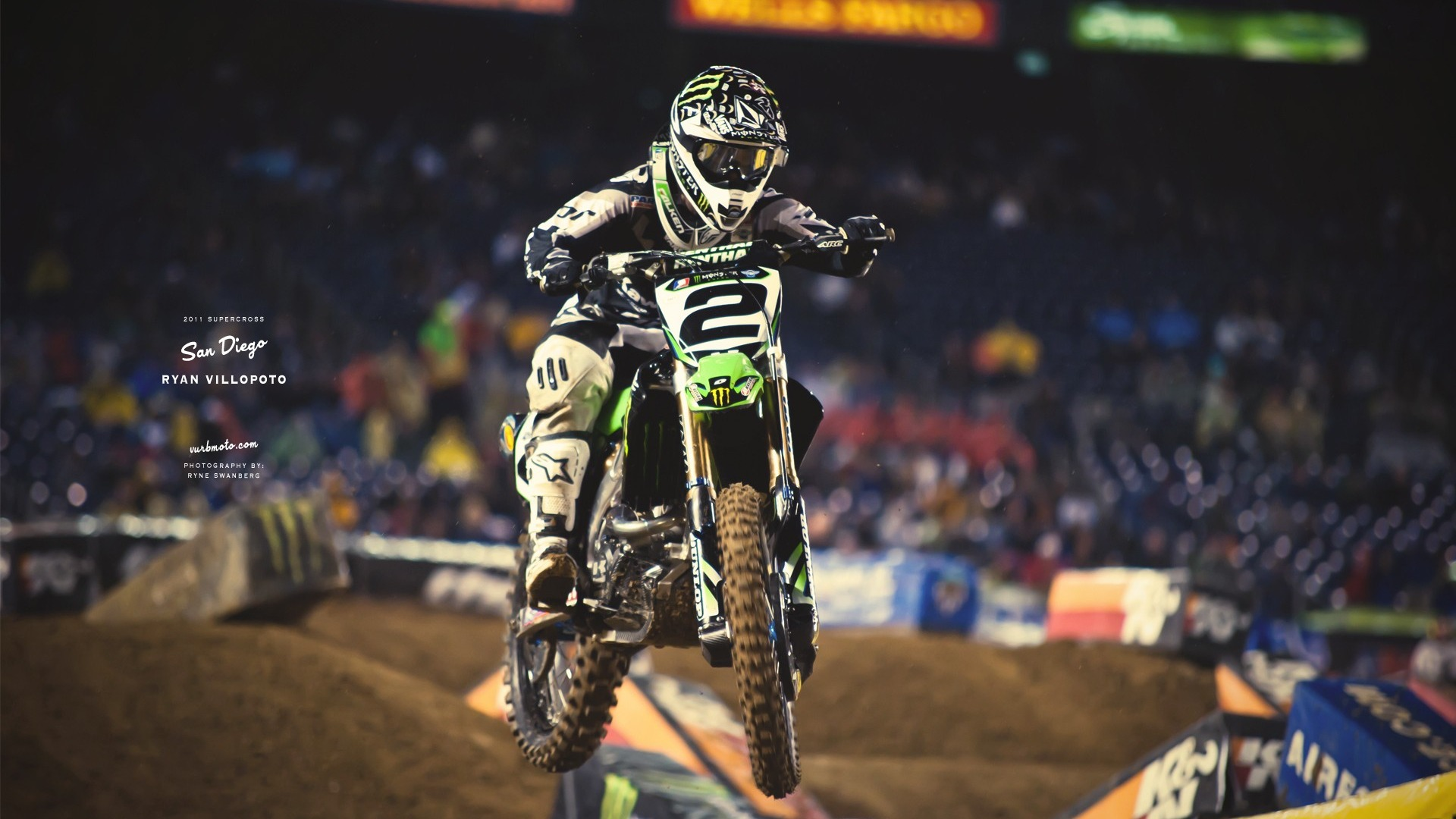 Full Hd Motorcycle Wallpaper Ama Supercross San Diego Rider Ryan Villopoto Preview