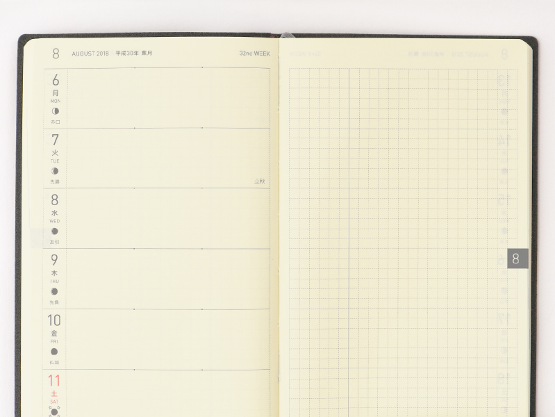 Weekly Page / Memo Page - Hobonichi Techo Weeks - 4 Techo Types