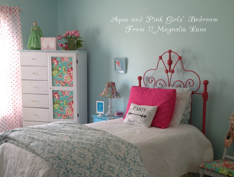 Teenage Girl Room White And Gold Polka Dot Wallpaper Girls Bedroom W Aqua Blue Pink Green With Paris