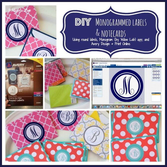 Tutorial DIY Monogrammed Labels and Notecards 11 Magnolia Lane